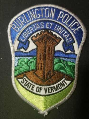 VT Burlington Vermont Police Patch