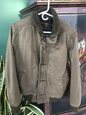 Abercrombie Harrison Jacket Mens Large, Faux Fur