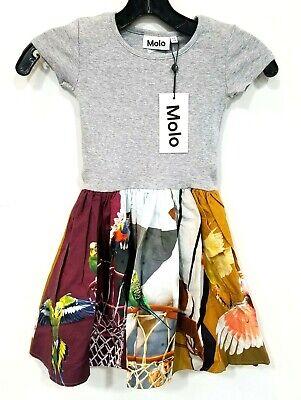 Molo City Pets Print Dress Girls sz 110/116 NWT