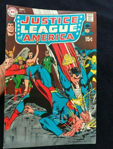 Justice League of America #74 (Sep 1969) DC National Comics Comic book