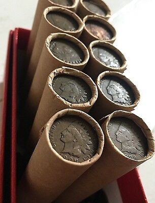 OLD INDIAN HEAD CENT WHEAT PENNY ROLL U.S. COIN LOT RARE ESTATE COLLECTION