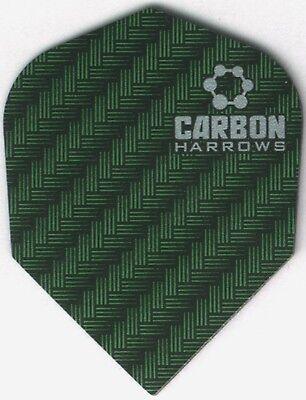 Green Carbon Dart Flights  3 Per Set