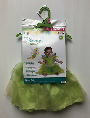 Disney Peter Pan TINKER BELL Halloween Baby Girl Infant Costume 12-18 Months New
