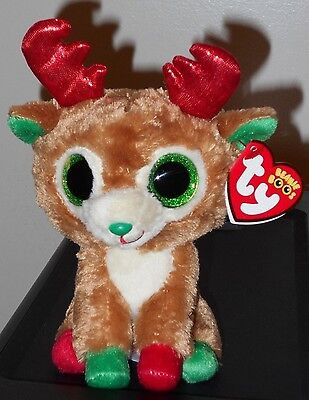 """Ty Beanie Boos ~ ALPINE the 6"""" 2016 Dated Reindeer ~ MINT with MINT TAGS"""