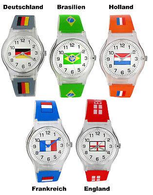 l Armbanduhr Deutschland Frankreich Holland England Brasilien (Fußball-armband)