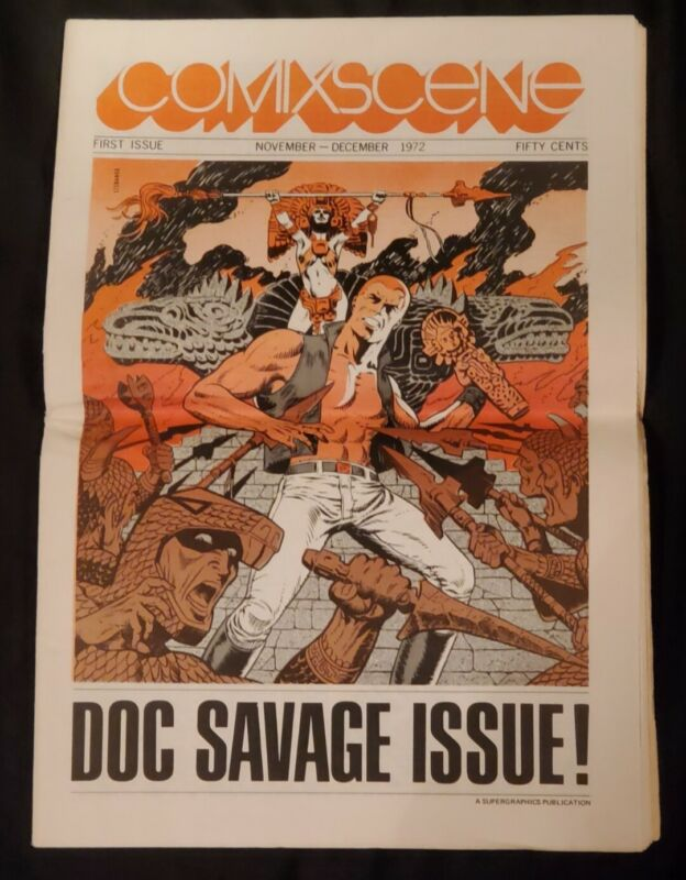 Vtg Comixscene #1 1972-1st Issue-Doc Savage issue-Jim Steranko Nice Condition