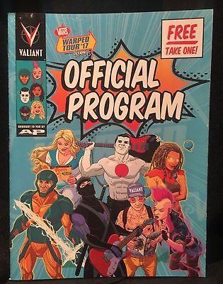 2017 Vans Warped Tour OFFICIAL PROGRAM Valiant Comics Andy Black Biersack GWAR