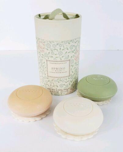 Crabtree & Evelyn Spring Rain Soap Vintage Gift Set of 3 Tri