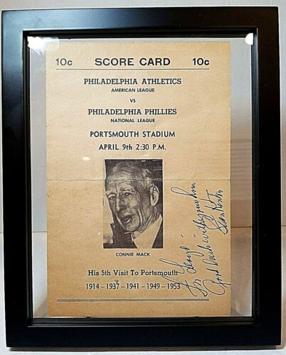 1953 Stan Kenton Autographed Philadelphia Athletics vs Phl. Phillies Score Card