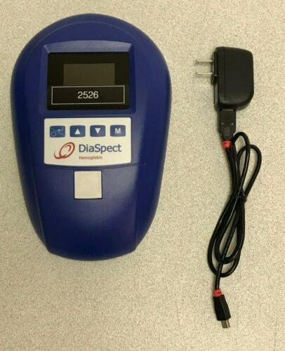 DiaSpect Hemoglobin T Analyzer 90.003 w/ AC Adapter Charger
