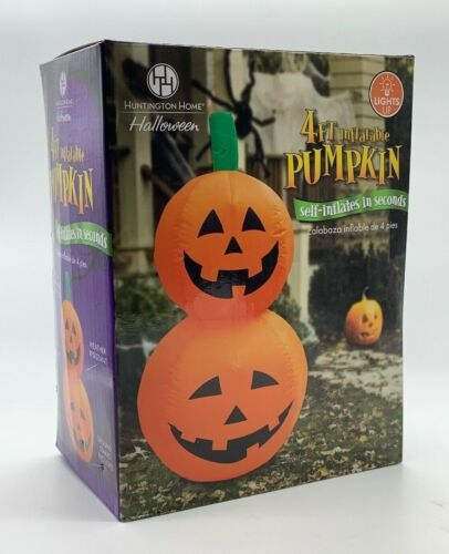Halloween 4 Ft Jack-O-Lantern Pumpkin Self Inflatable Light Up Yard Decoration