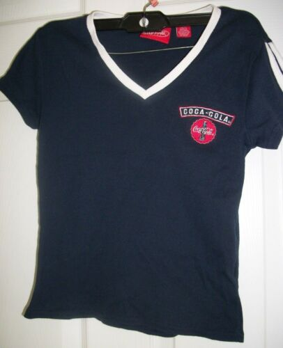 Coca-Cola Girl's Dark Blue & White Shirt Size M