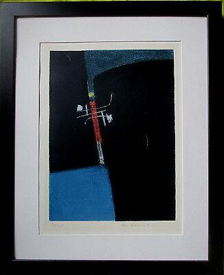 MAX ACKERMANN >Begegnung I< HAND-SIGNIERT, 78/100,1955,  50x39,5cm, mit Rahmen