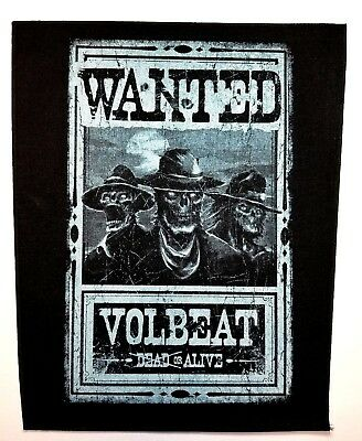 VOLBEAT (wanted ) OFFICIAL BACK  PATCH, used for sale  Shipping to India