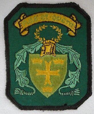 "Fide Et Opera Clan Crest Patch Scotland 3.75"""