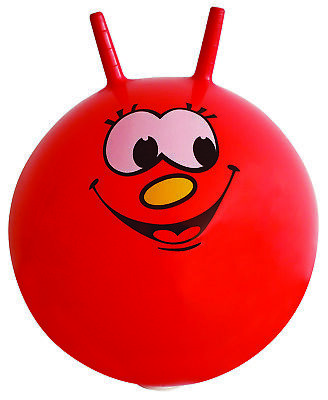 """Large Red Space Hopper Jump Bounce Retro Ball Toy Smiley Face 60cm / 24"""""""