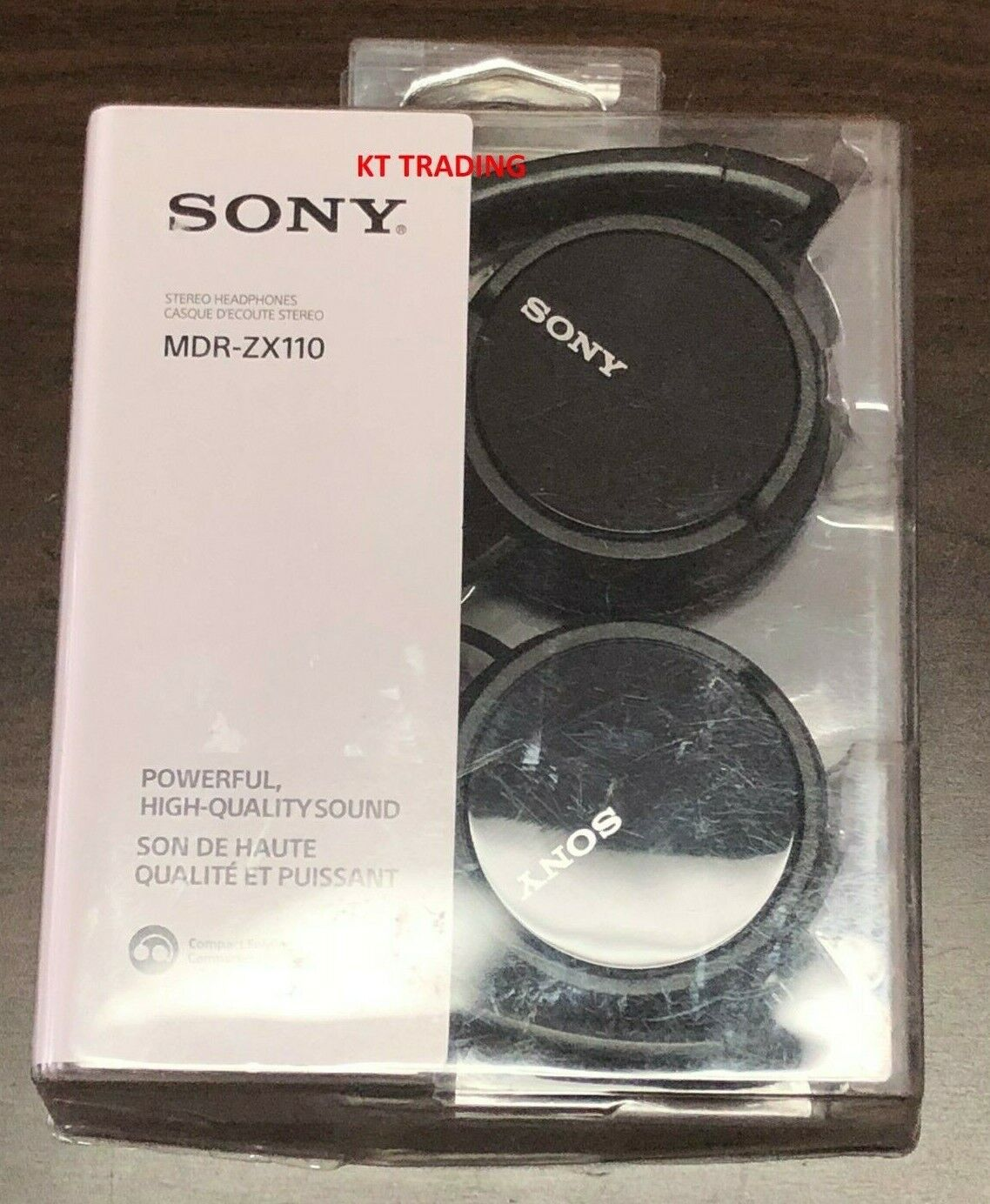 Sony Genuine MDRZX110 Stereo On ear Swivel Headphones  MDRZX110  Black