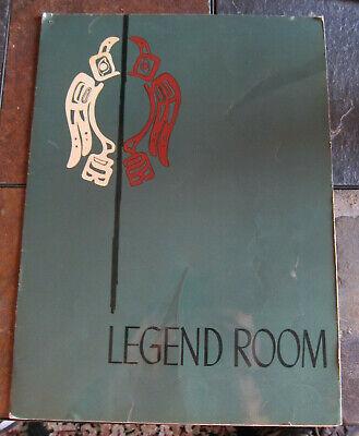 1950 Legend Room Bon Marche Northgate Restaurant Menu Puget Sound Seattle