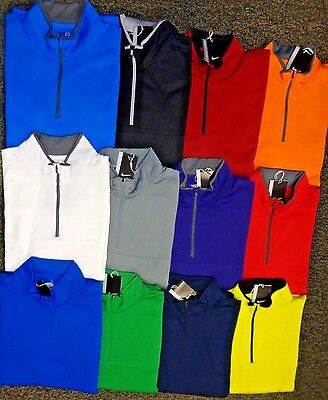 NEW NIKE Therma-Fit L/S 1/2 Zip Pullover Cover-Up GOLF JACKET,PICK COLOR, MEDIUM