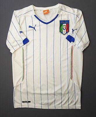 46234fa56d 4.9 5 Italia Italy soccer jersey MEDIUM 2014 2015 away shirt football Puma