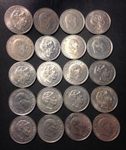Vintage Denmark Coin Lot - KRONE - High Quality Older Types - FREE SHIPPING
