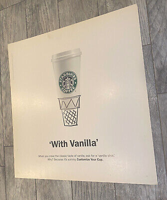 VINTAGE STARBUCKS 2004 NYC SUBWAY POSTER With Vanilla