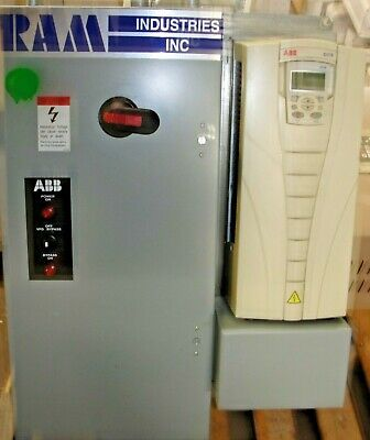 ABB ACH550-UH-031A-4 - 20HP Drive with ABB Ram Industries Enclosure Used 3 PHZ