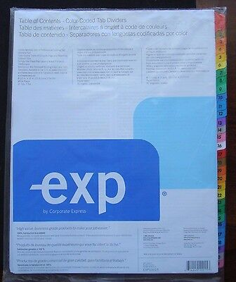 Corporate Express Preprinted 31 Page Tab Dividers