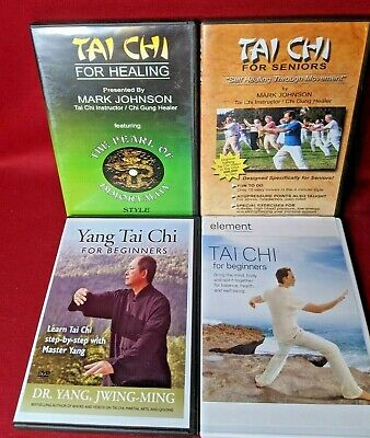 Tai Chi DVd's Lot Of 4 For Seniors/For Healing/For Beginners/Element Tai Chi