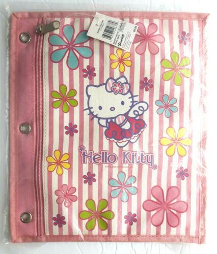 2004 Sanrio Hello Kitty Pencil Bag 3 ring Binder Organizer zipper supply pouch