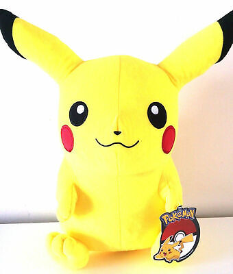 "NEW JUMBO 17"" TALL PIKACHU POKEMON SOFT PLUSH ANIMAL TOY YELLOW. LICENSED."
