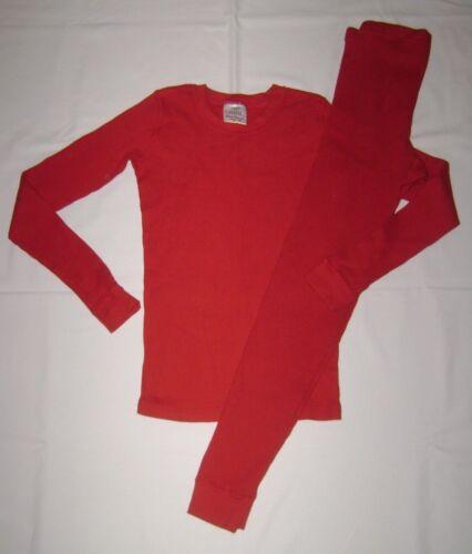 Hanna Andersson Red Organic Thermal Long John Pajamas size 150