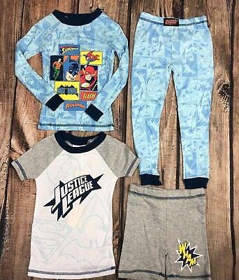 Boys Pajama Lot 4 Pcs Justice League Batman Super Man Super Hero Size 3T