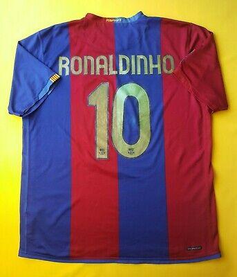 e0f360e0c07 4.2 5 Ronaldinho Barcelona jersey XL 2006 2007 home shirt soccer Nike ig93