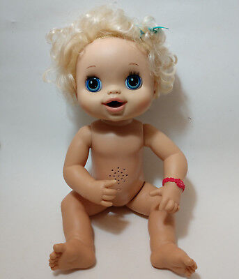 """Hasbro 2010 Baby Alive  Interactive 15"""" blonde blue eyes baby doll for sale  Chicago"""