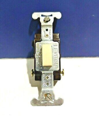 Leviton IVORY Single Gang 3-Way Push Button Press TAP Touch Switch 5573-I NEW ()
