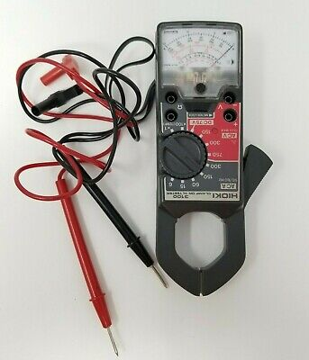 Vintage Hioki 3100 Analog Clamp On Hi Tester In Case With Leads
