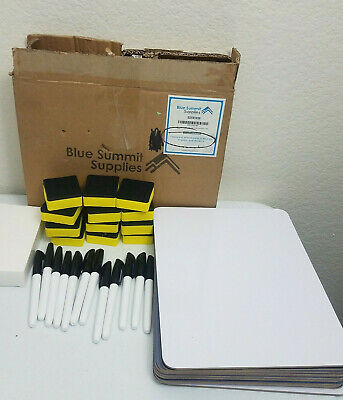 Blue Summit Supplies 12 Pack Dry Erase Lapboard Classroom Set Teacher Markers