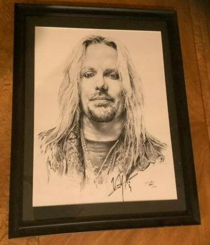 VINCE NEAL OF MOTLEY CRUE AUTOGRAPHED LITHOGRAPH PRINT 1/200