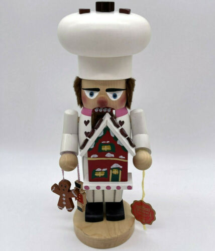Collectible Steinbach Nutcracker with Tag Gingerbread House Baker Germany 12""