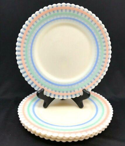 "Set of 4: Macbeth Evans Petalware Monax, Cremax Pastel 8"" Salad, Luncheon Plates"