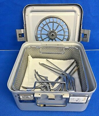 Set Of 6 Ent Rongeurs Aesculapcodman Kerrisonspituitaries W Sterilization Case