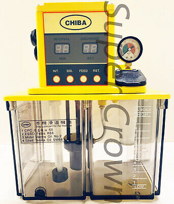 Chiba Cnc Lube Pump 4l Tank For Industrial Machines W Resistant-type Ce 110v