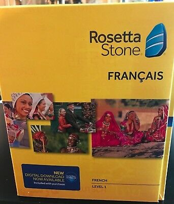 Rosetta Stone Learn French 1  Cd Set   Digital Download  Headset  Version 4