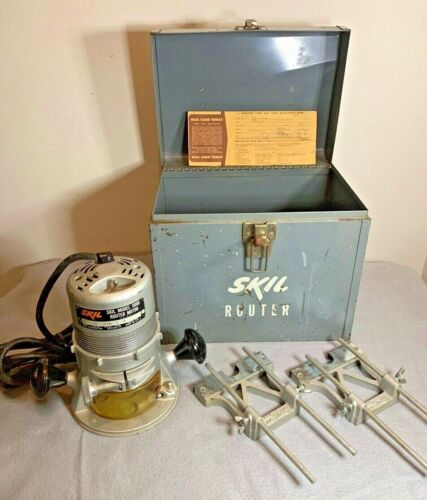 Vintage Skil Router Model  5000  & Case also Accessories very nice