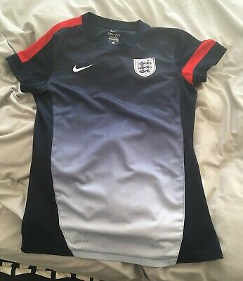 Nike England Dri - Fit Mens Navy Blue Football Training Top Size : S
