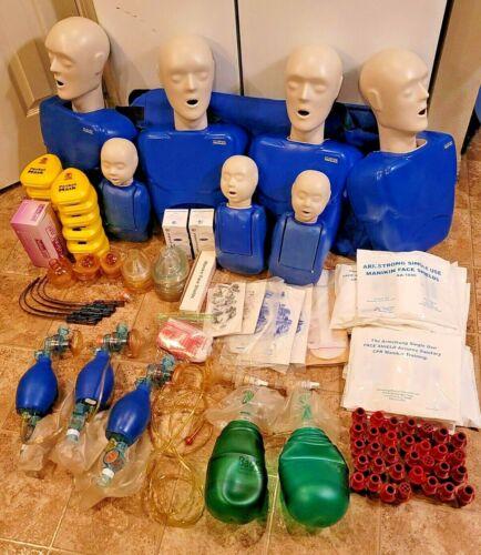 Lot of CPR Prompt Emergency EMT Training Mannequins Manikin Adults & Infants