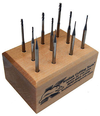 Usa Made Long-reach Ball Nose Carbide End Mill Set .010-.100 5xs Dia Reach