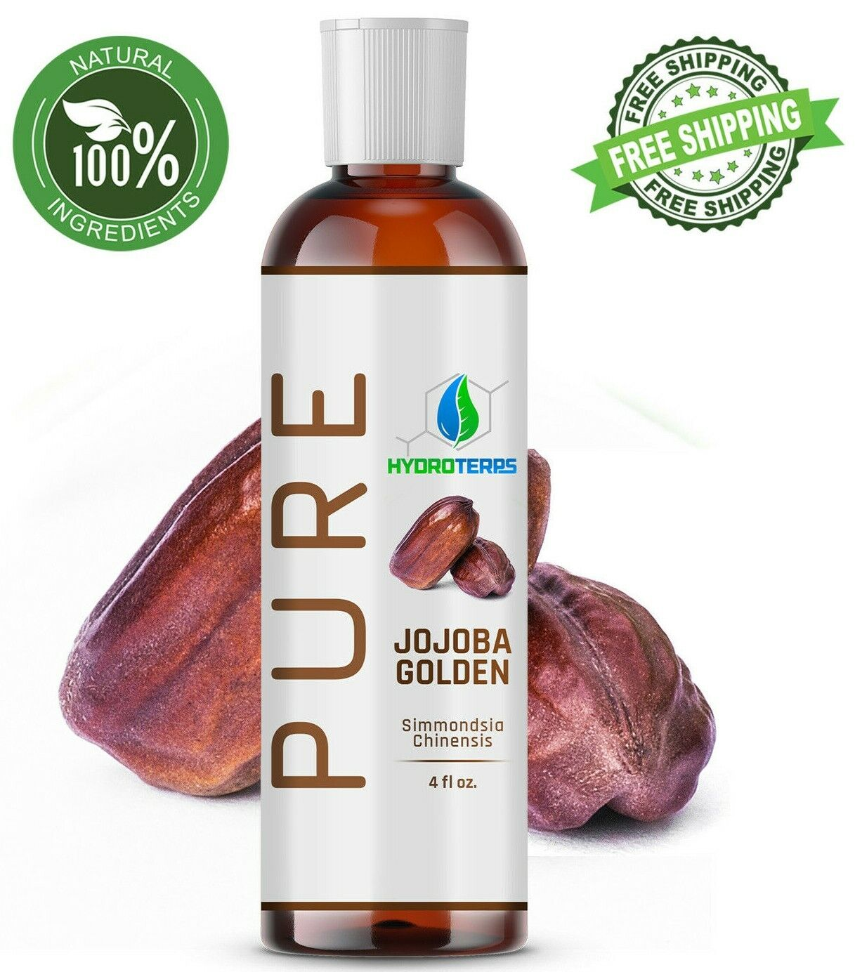 Jojoba Oil Golden 4 oz 100% Pure Cold Pressed Carrier For Sk