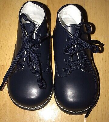 Josmo Infant Toddler First Walker Navy Blue Oxford Shoes Size 3.5
